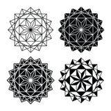 Geometric design, single abstract pattern set Stock Image