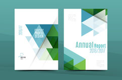 Geometric design A4 size cover print template Stock Photography