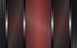 Geometric design with metal rectangular bars. royalty free illustration