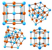 Geometric Designs. 3d rendering of geometric, molecular structures royalty free illustration