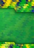 Geometric digital background Brazil 2016 flag colors, vector A4 format. Stock Photo