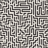 Geometric digital striped seamless pattern. Vector background Royalty Free Stock Image