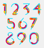 Geometric digits Royalty Free Stock Images