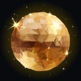 Geometric Disco ball Isolated. Holidays Background Stock Image