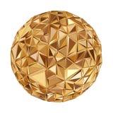 Geometric Disco ball Isolated. Holidays Background Royalty Free Stock Image