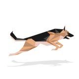 Geometric dog illustratration Royalty Free Stock Images