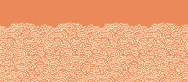 Geometric doodle texture horizontal seamless Stock Image