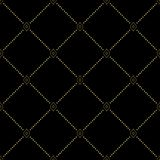 Modern Seamless Pattern. Geometric dotted black and golden pattern. Seamless abstract modern texture for wallpapers and backgrounds Stock Photos