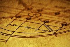 Geometric drawing Stock Photo