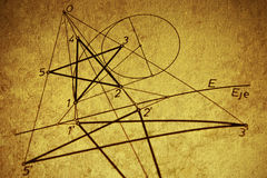 Geometric drawing stock photography