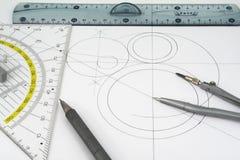Geometric drawings Stock Photos