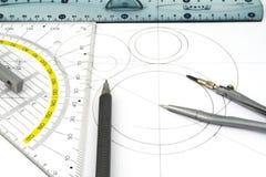 Geometric drawings Royalty Free Stock Photo