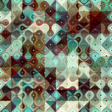 Geometric droplet pattern with polka dot Royalty Free Stock Photos