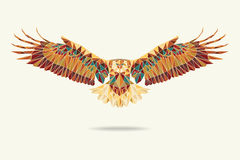 Geometric eagle abstract colors Royalty Free Stock Photography