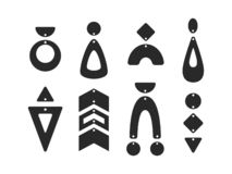 Free Geometric Earring Templates. Boho Tear Drop Earrings. Pendant. Laser Cut Template. Earrings With Hole. Jewelry Making. Vector Stock Images - 165750464