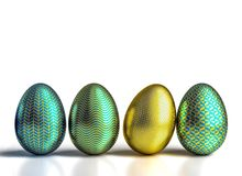 Geometric easter eggs Stock Photography