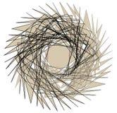 Geometric edgy random shape. Abstract textured design Royalty Free Stock Photography