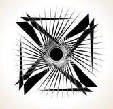 Geometric edgy random shape. Abstract textured design Royalty Free Stock Photo