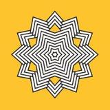 Geometric Element Lines. Trendy geometric Element. Vector Lines shape. Design Element. black graphic lines stars snowflakes polygon Royalty Free Stock Photos