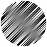 Geometric element made of lines. Abstract monochrome shape isola Stock Photography
