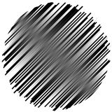 Geometric element made of lines. Abstract monochrome shape isola Royalty Free Stock Images