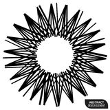 Geometric element made of lines. Abstract monochrome shape isola. Ted on white - Royalty free vector illustration stock illustration