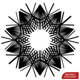 Geometric element made of lines. Abstract monochrome shape isola. Ted on white - Royalty free vector illustration vector illustration