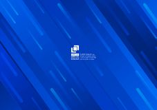 Geometric elements blue abstract background modern design vector illustration