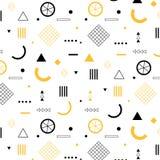 Geometric Elements Flat Pattern. royalty free illustration