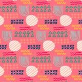 Geometric Elements Flat Pattern. stock illustration