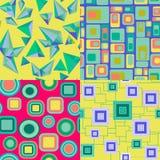 Geometric elements pattern seamless background Royalty Free Stock Image