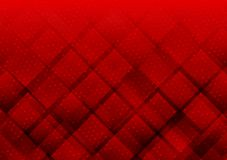 Geometric elements red color with dots abstract vector background stock illustration