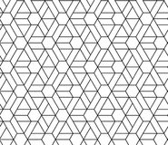 HEXAGONAL SEAMLESS VECTOR PATTERN. OUTLINE TRELLIS GEOMTERIC TEXTURE. MONOCHROME TRENDY BACKGROUND. GEOMETRIC ELEMENTS SEAMLESS VECTOR PATTERN. OUTLINE GRID royalty free illustration