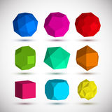 Geometric elements set Royalty Free Stock Photography