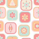 Geometric elements squares seamless pattern pastel colors Royalty Free Stock Photo