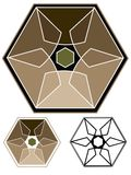 Geometric emblem Stock Images