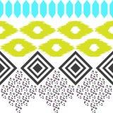 Geometric ethnic border pattern. Ikat rhombus and Stock Image