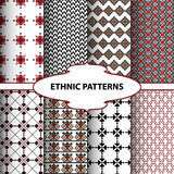 Geometric ethnic patterns. Design for background, carpet, wallpaper, clothing, wrapping. Vector illustration Stock Photos