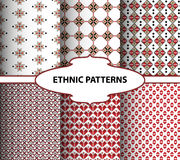 Geometric ethnic patterns. Embroidery style Royalty Free Stock Photos
