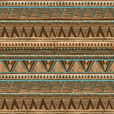 Geometric ethnic seamless pattern. Abstract aztec background. Digital or wrapping paper brown vector. Art Stock Illustration