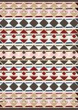 Geometric etnic handmade pattern background. Unique geometric colorfull etnic handmade pattern background   with black, white, brown, red, blue colors Royalty Free Stock Photos