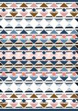 Geometric etnic handmade pattern background. Unique geometric colorfull etnic handmade pattern background   with blue, brown, white, brown, red, milk colors Stock Photo