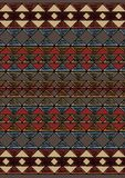 Geometric etnic handmade pattern background. Unique geometric colorfull etnic handmade pattern background   with black, white, brown, red, milk colors Royalty Free Stock Photography