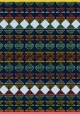 Geometric etnic handmade pattern background. Unique geometric colorfull etnic handmade pattern background   with black, yellow, black, red, mint colors Stock Photos