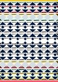 Geometric etnic handmade pattern background. Unique geometric colorfull etnic handmade pattern background with blue, white, black, red, milk colors Stock Image