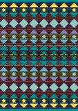 Geometric etnic handmade pattern background. Unique geometric colorfull etnic handmade pattern background   with yellow, brown, green, mint, blue, violet colors Royalty Free Stock Image