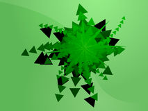 Geometric explosion Stock Image