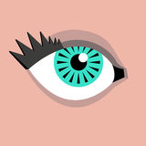 Geometric eye Stock Image