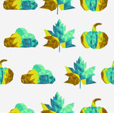Geometric fall elements seamless pattern backgroun Royalty Free Stock Image