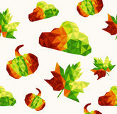 Geometric fall elements seamless pattern backgroun Stock Photos